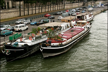 River Boats Along The Seine - A. Hromish